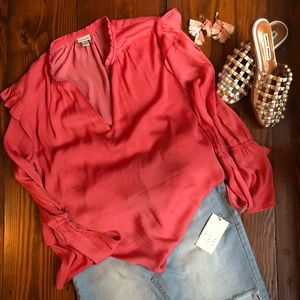 Women's A New Day Coral Blouse